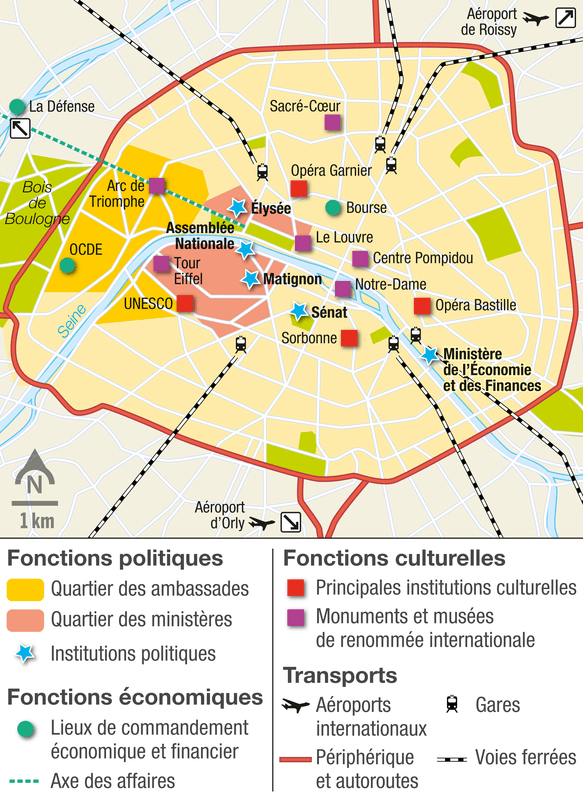 Une capitale aux fonctions multiples - Schema de l ile de france ...