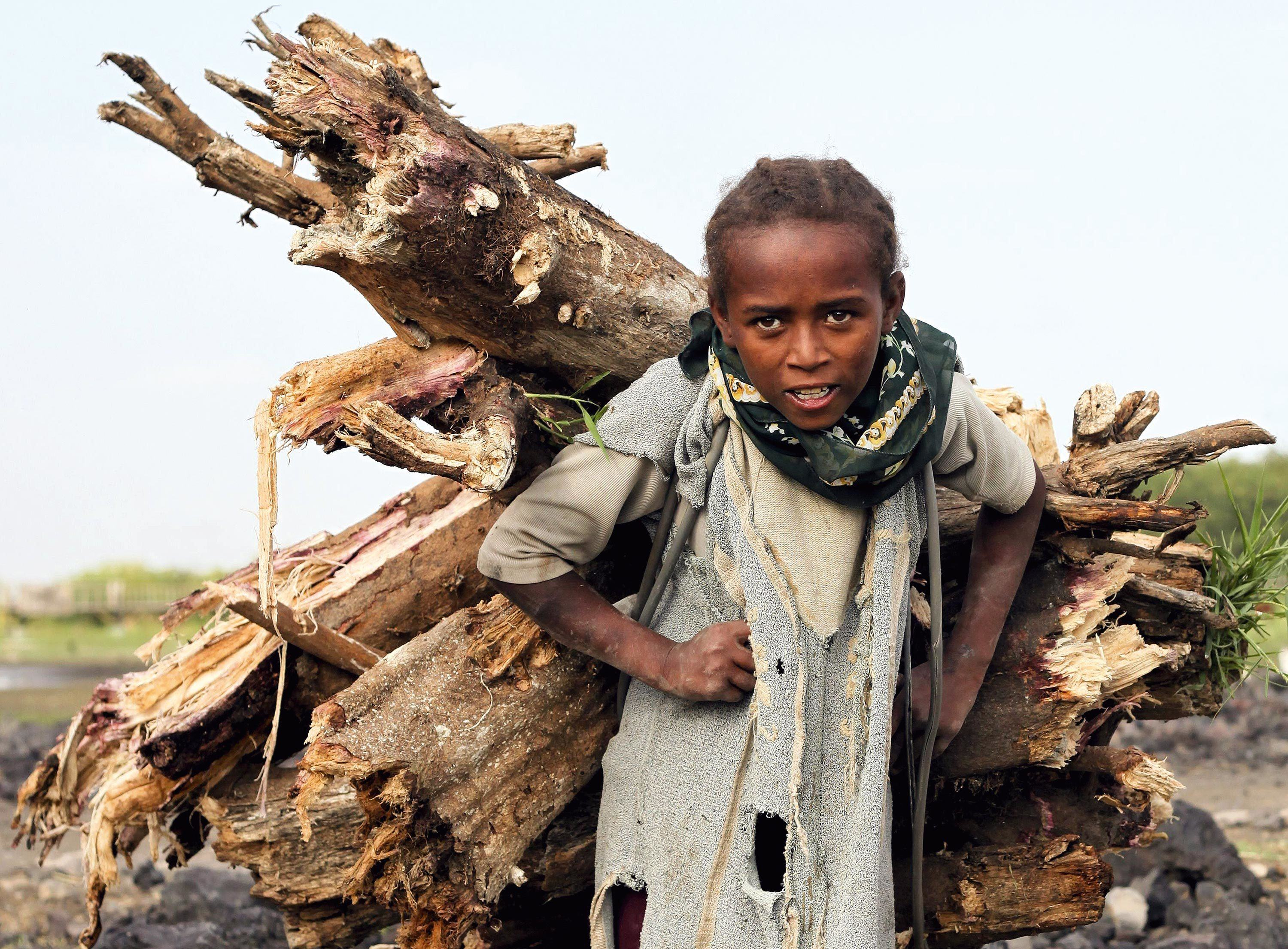 Child working in South Ethiopia