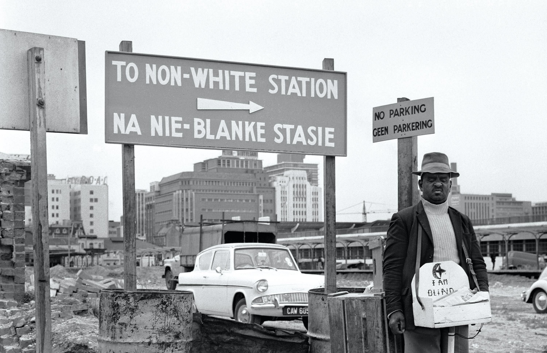 Apartheid notice on a beach near Capetown