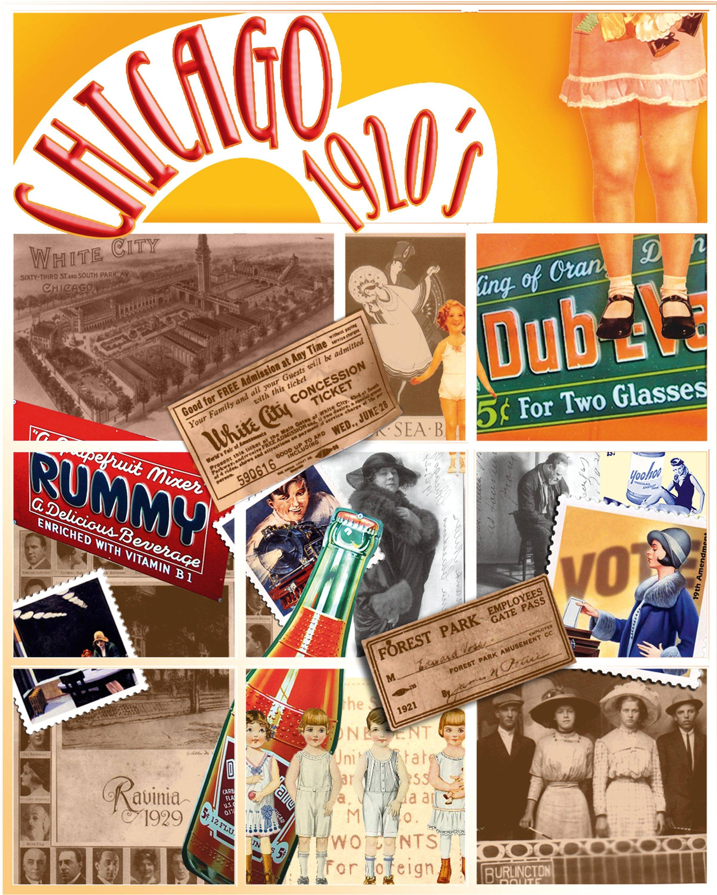 Chicago 1920s Collage