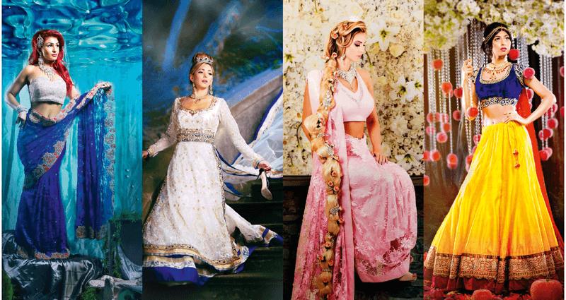 Ariel, Cinderella, Rapunzel, Snow White