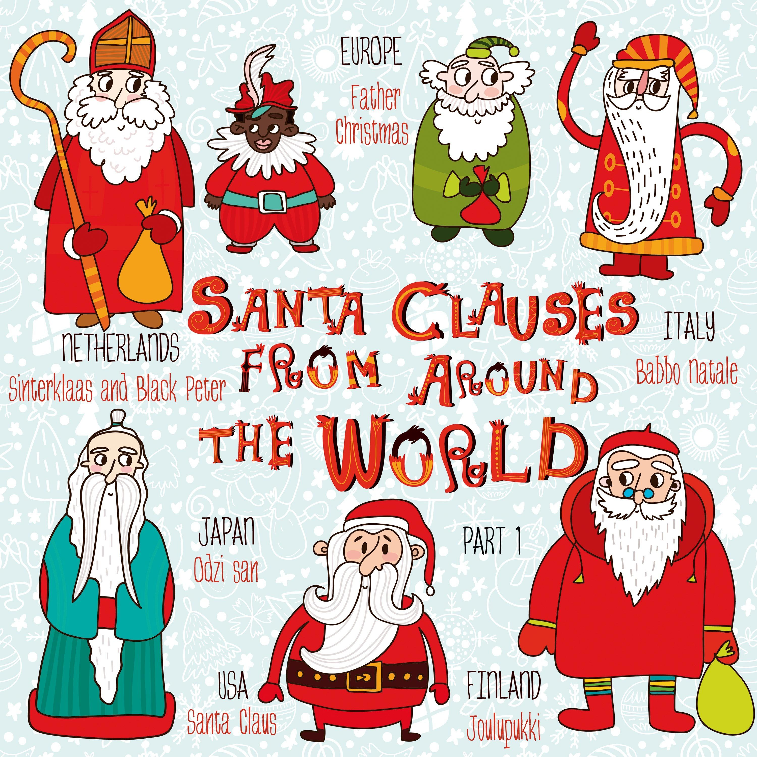 Santa Clauses from around the world