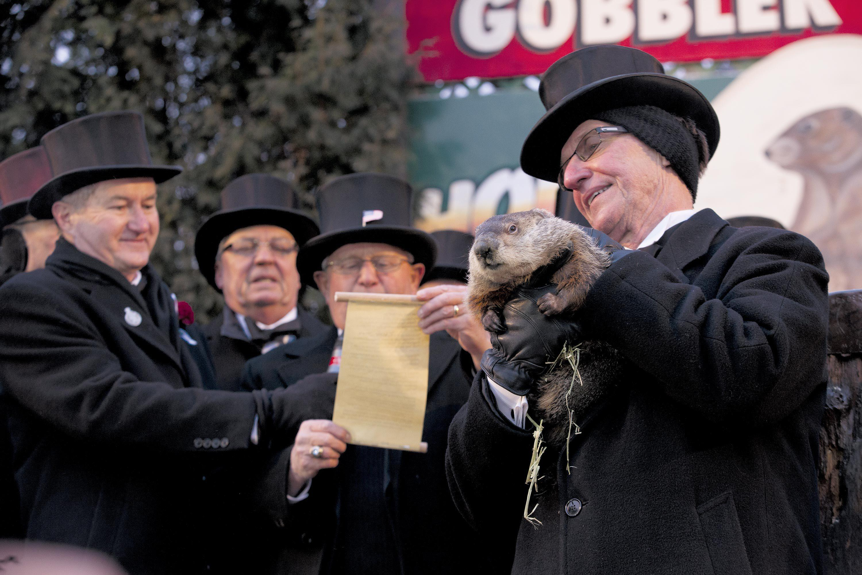 Groundhog Day from Gobbler's Knob in Punxsutawney