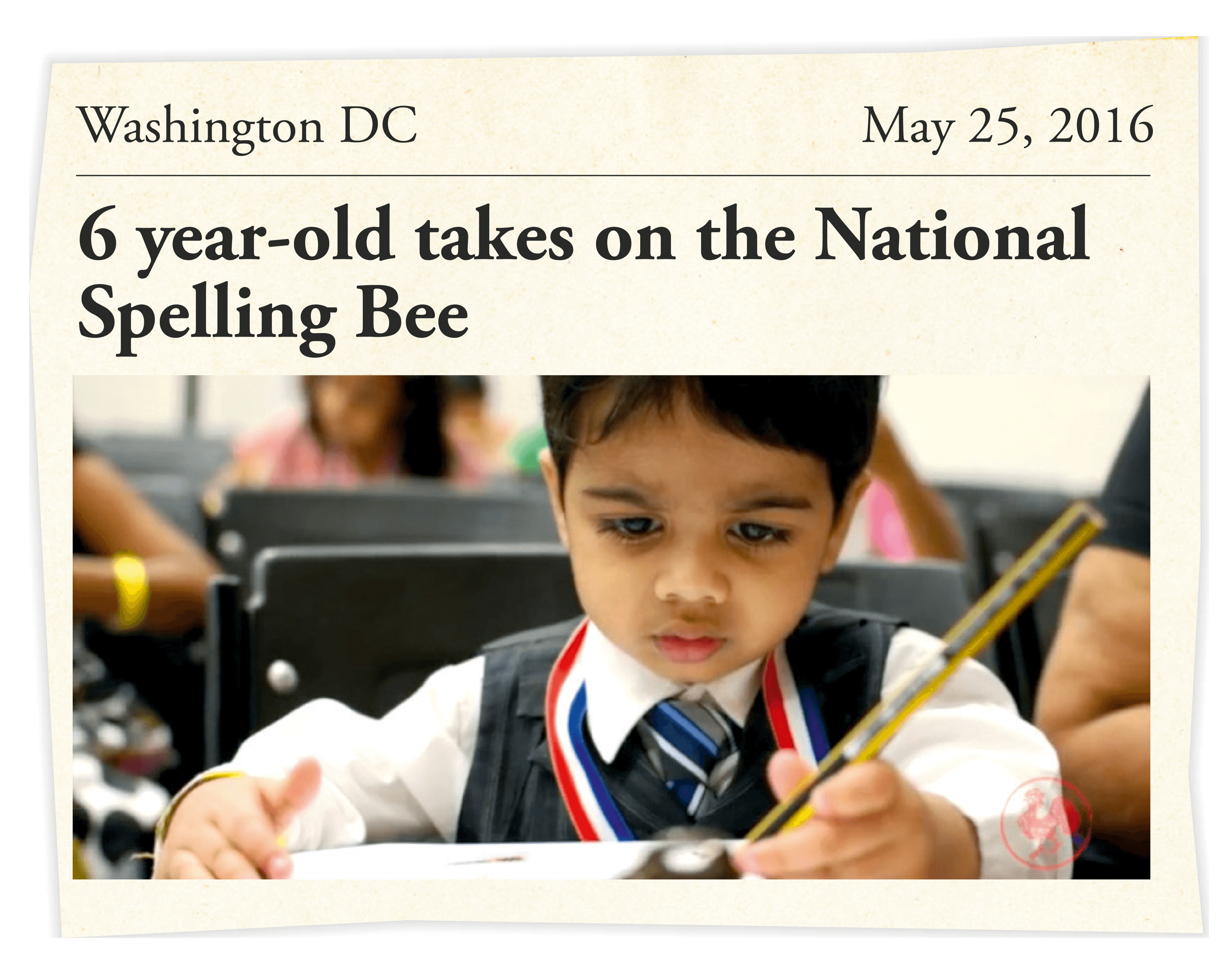 6 year-old takes on the National Spelling Bee