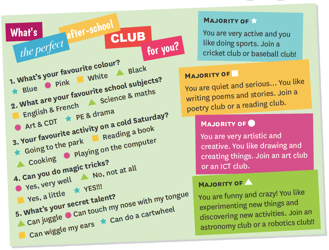 What's the perfect after-school club for you?
