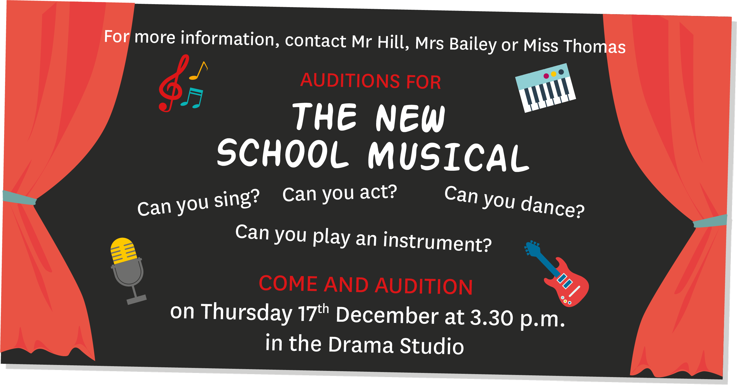 Auditions for the new school musical (2)