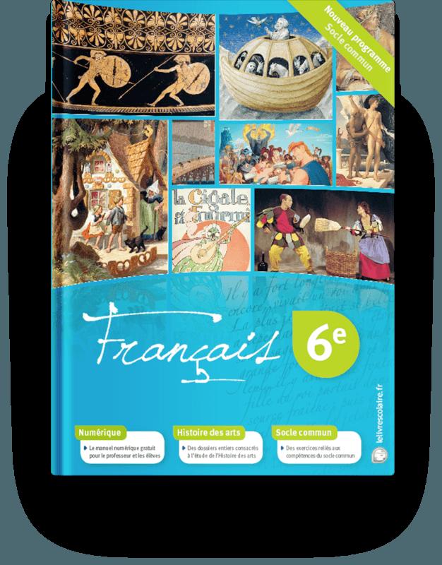 Couverture livre Français 6e