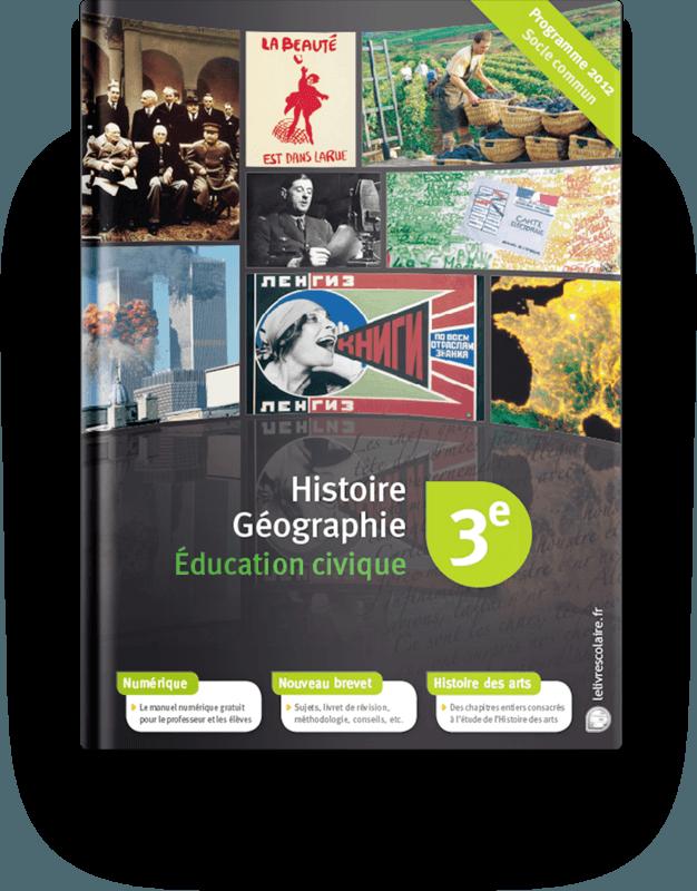 Couverture livre Histoire, Géographie, Éducation civique 3e