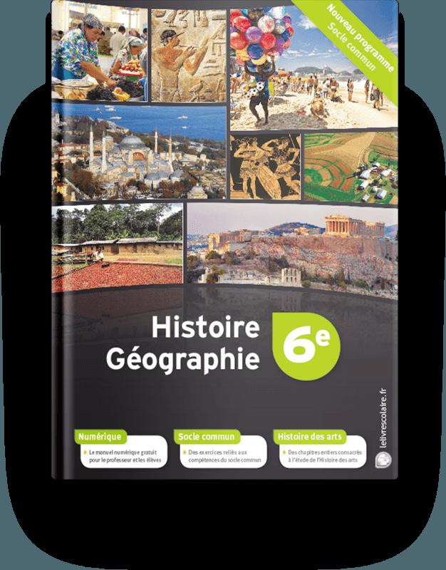 Couverture livre Histoire-Géographie 6e
