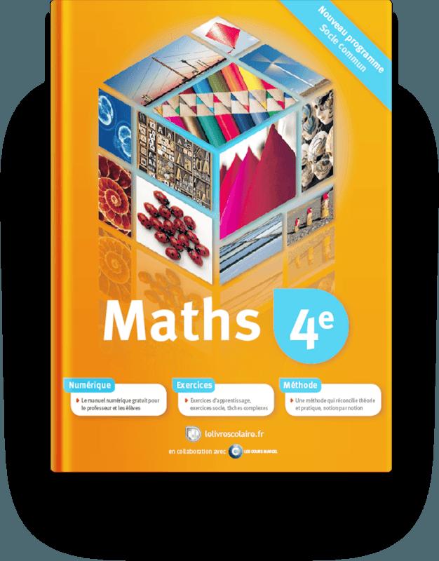 Couverture livre Mathématiques 4e