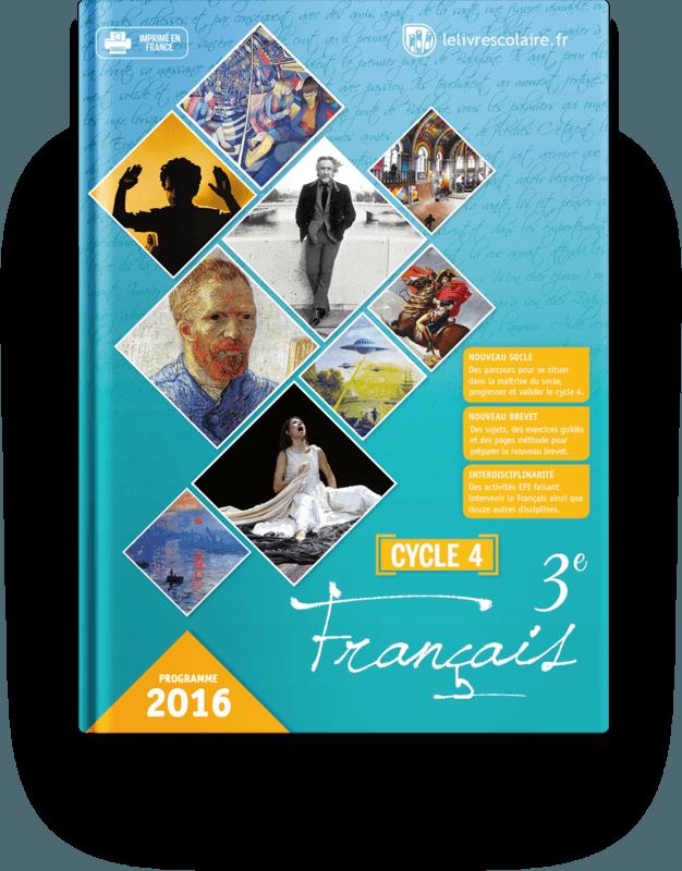Couverture livre Français 3e 2016