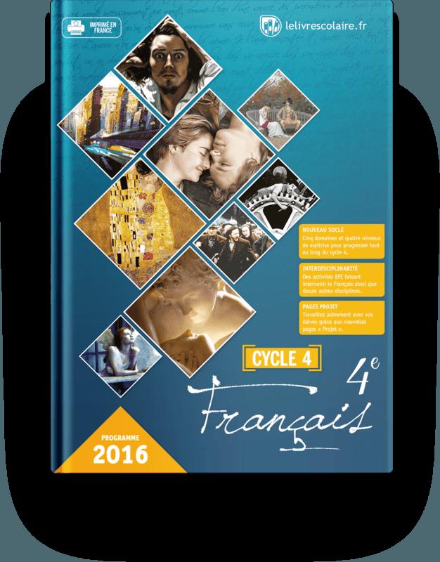 Couverture livre Français 4e 2016