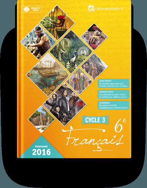 Couverture livre Français 6e 2016