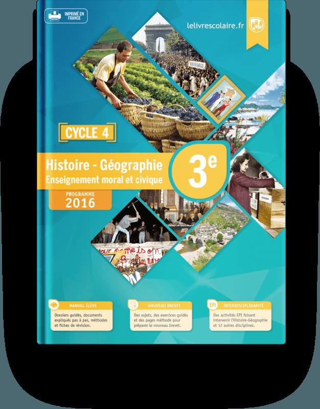 Couverture livre Histoire-Géographie 3e 2016