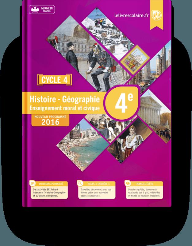 Couverture livre Histoire-Géographie 4e 2016