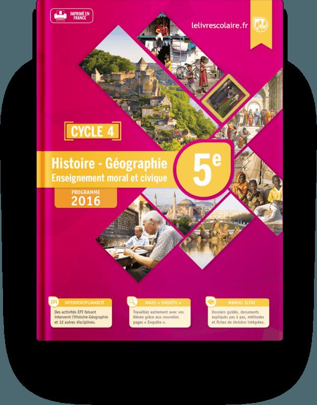 Couverture livre Histoire-Géographie 5e 2016