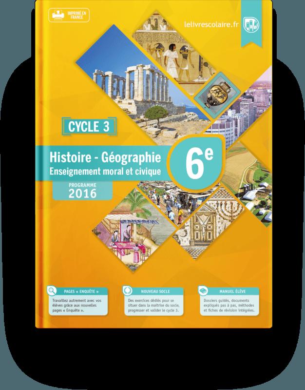Couverture livre Histoire-Géographie 6e 2016