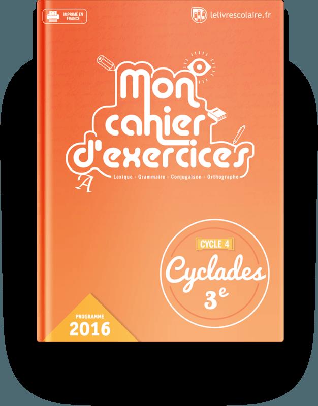 Couverture livre Cahier d'exercices - Français 3e