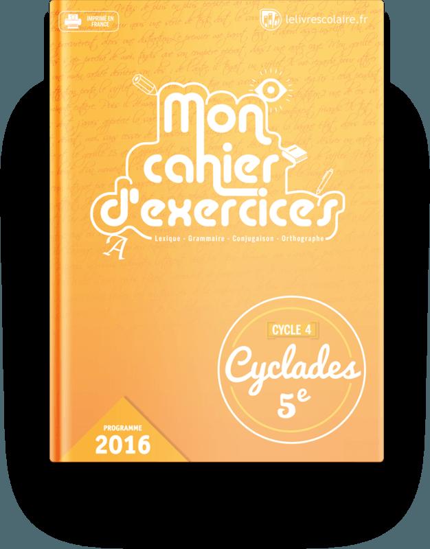 Couverture livre Cahier d'exercices - Français 5e