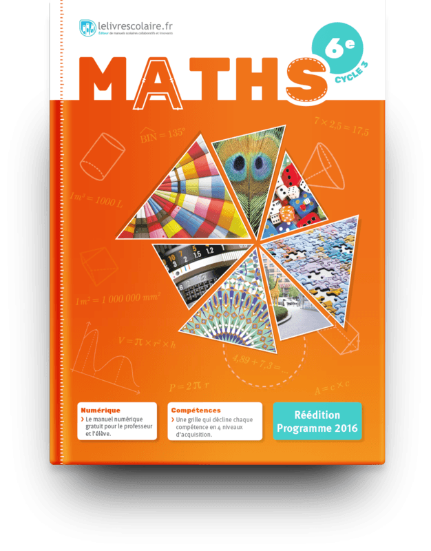 Couverture livre Mathématiques 6e 2016