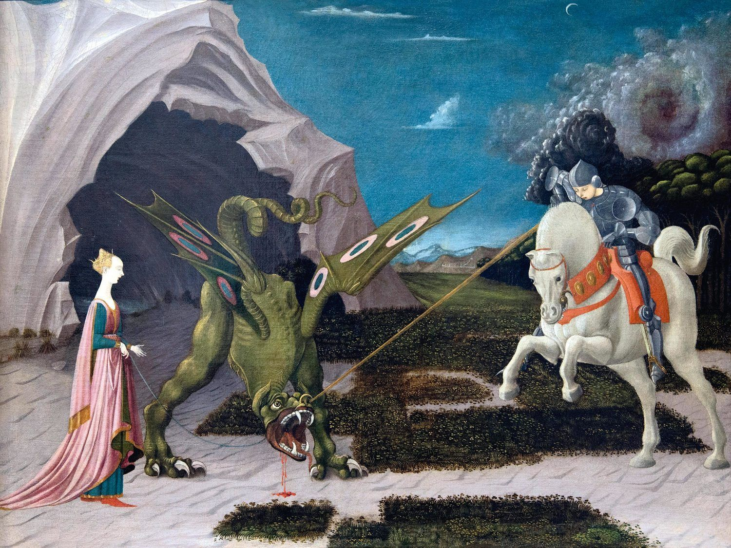 Saint George and the Dragon by Ucello