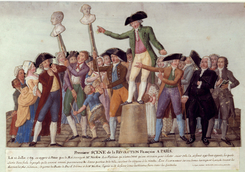 Première scène de la Révolution française