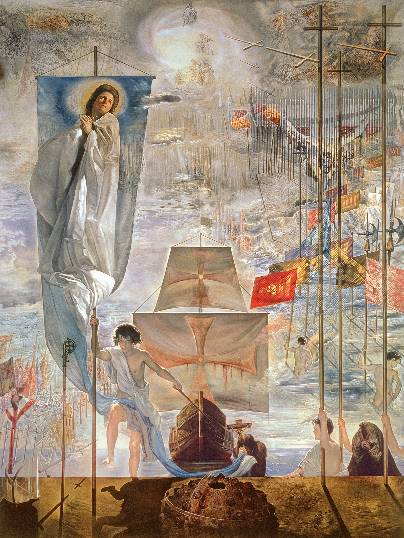 El descubrimiento de América por Cristobal Colón, Salvador Dalí