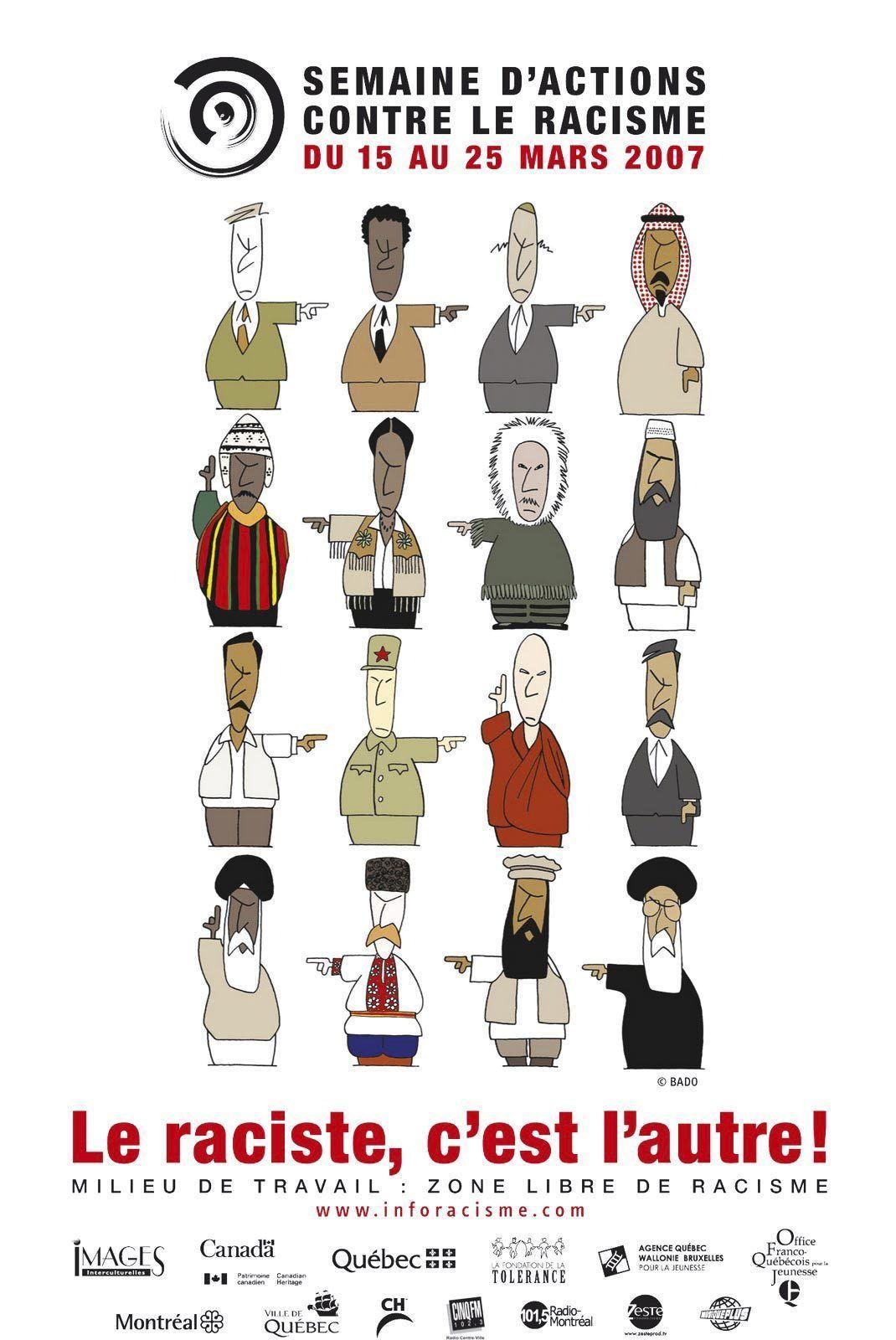 Affiche pour la Semaine d'actions contre le racisme