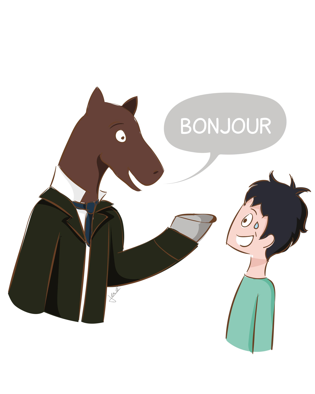 Ex. 1 Un salut équin