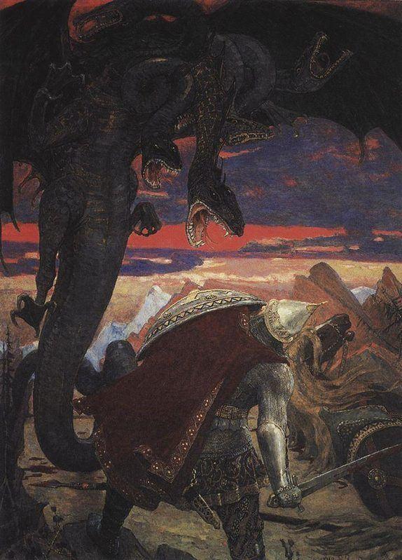 Combat de Dobrynya Nikitich avec l'Hydre à sept têtes