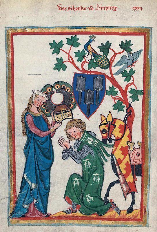 Chevalier faisant la cour à sa dame