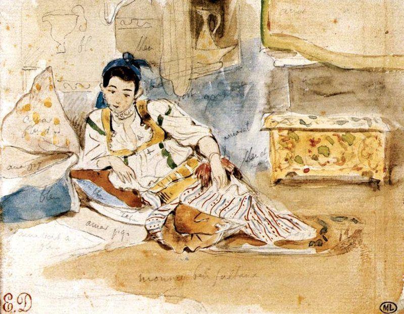 Esquisse pour les femmes d'Alger