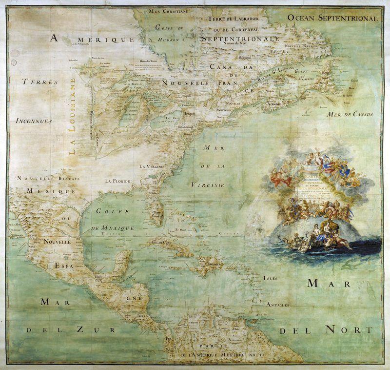 carte de l'Amérique
