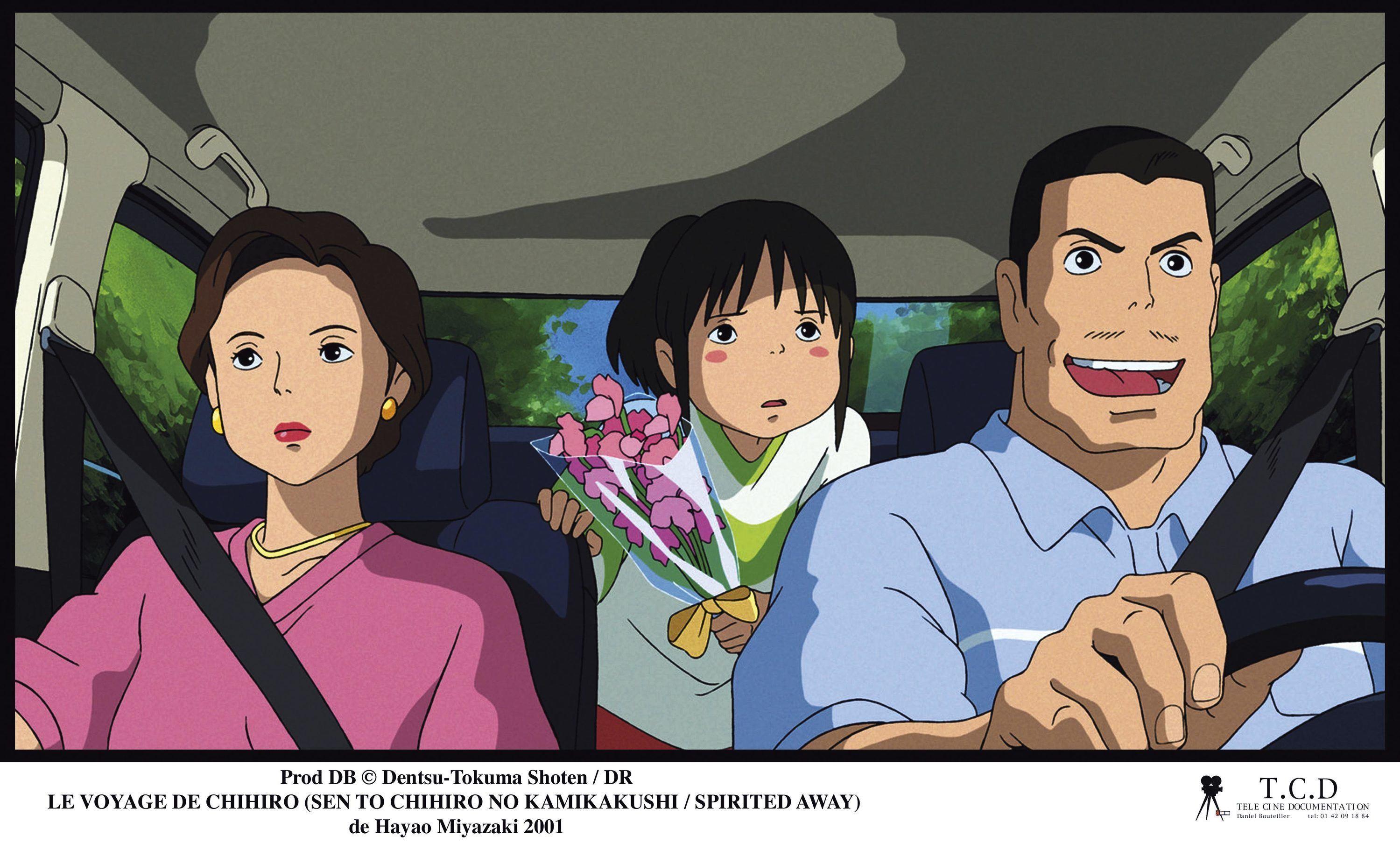 Chihiro et ses parents.