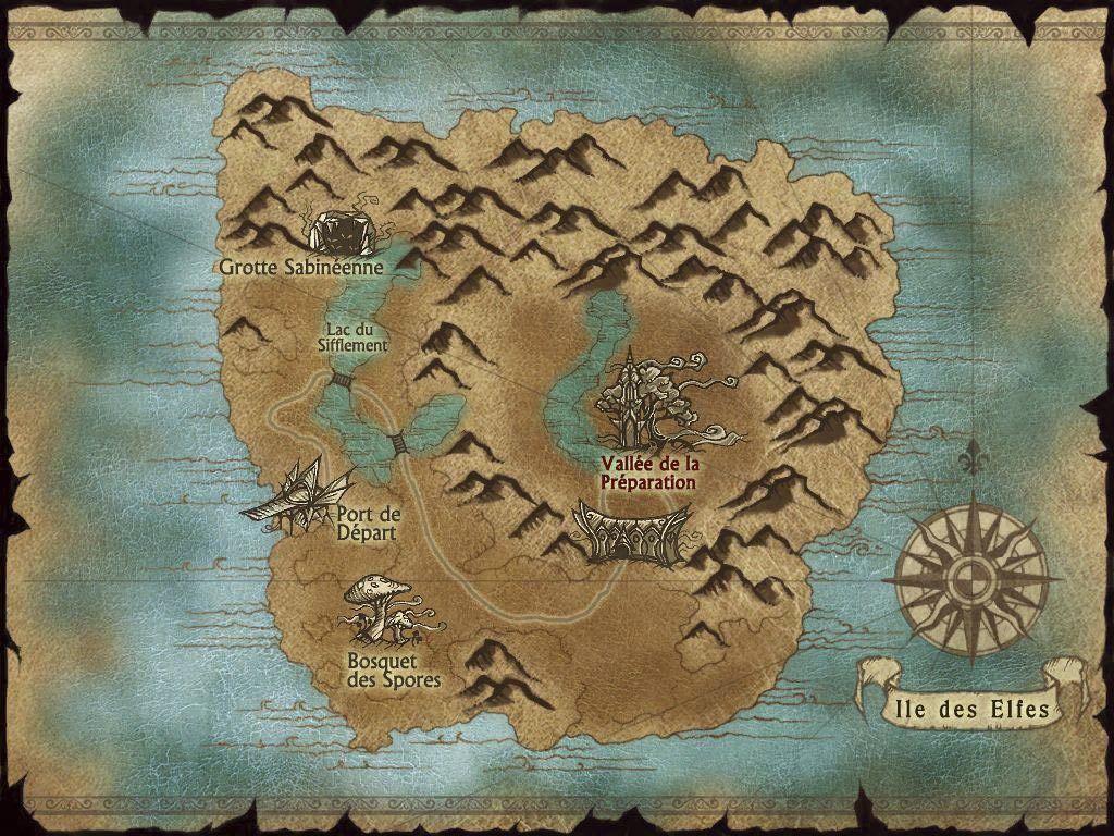 Carte de l'ile des elfes