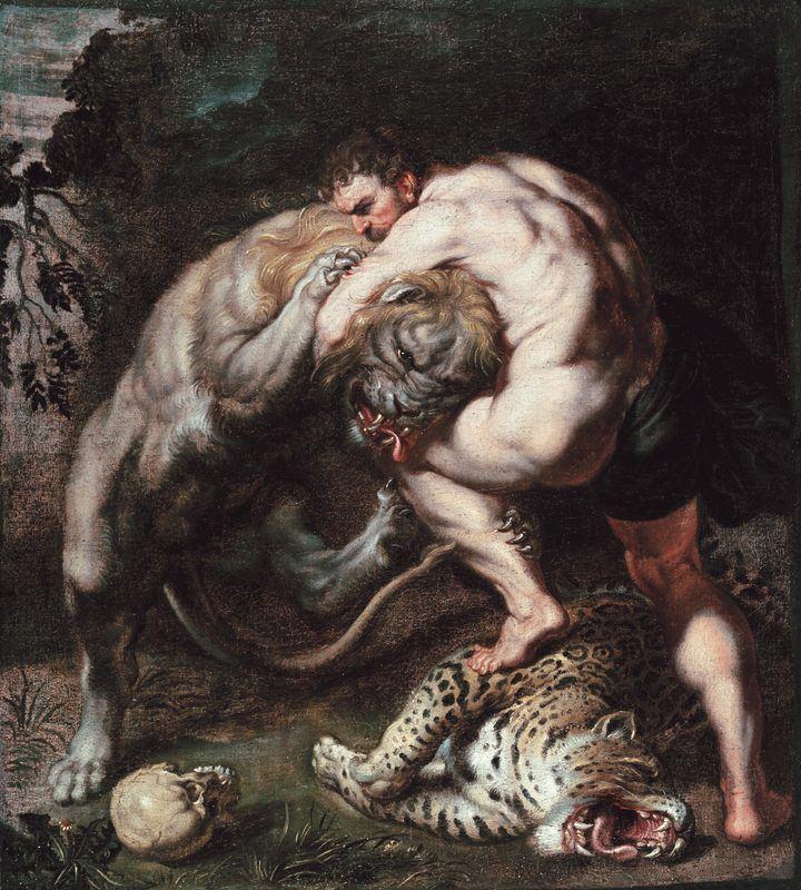 Combat contre le lion de Némée
