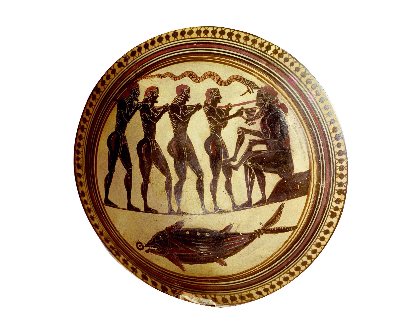 Ulysse et ses compagnons aveuglant Polyphème