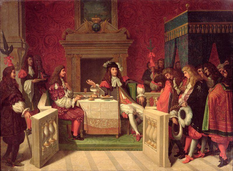 Molière dinant avec Louis XIV