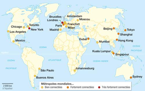 Carte Des Grandes Villes Et Megalopoles Du Monde