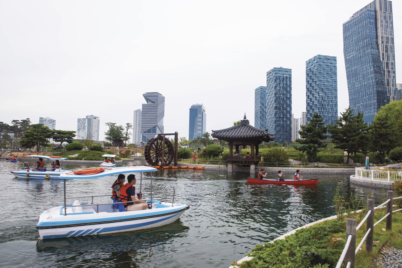Des espaces verts au cœur de la ville
