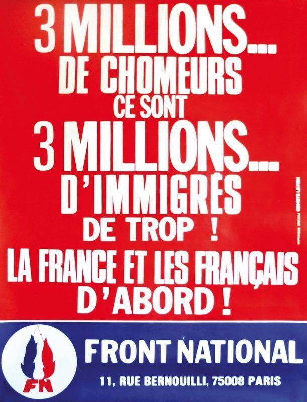 Front National Femme Au Foyer : Affiche du front national