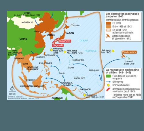 Carte Geographique Asie Pacifique.La Guerre En Asie Pacifique 1941 1945