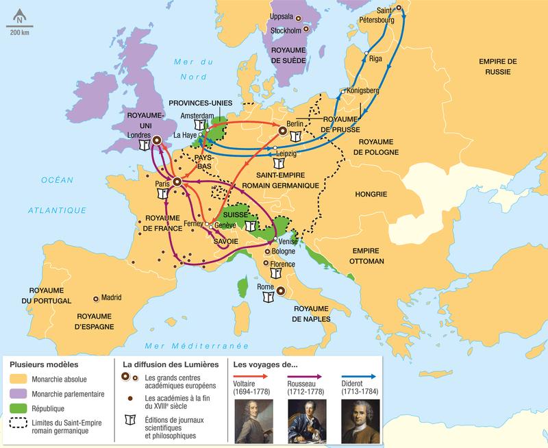 L'Europe des Lumières au XVIIIè siècle