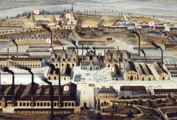 Le Creusot (Bourgogne), une ville minière et industrielle