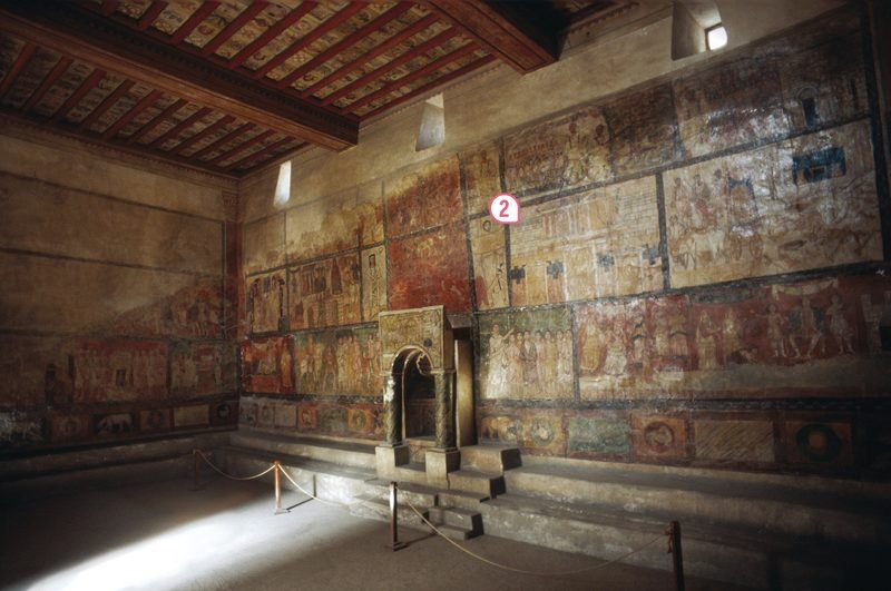 Vue intérieure de la synagogue