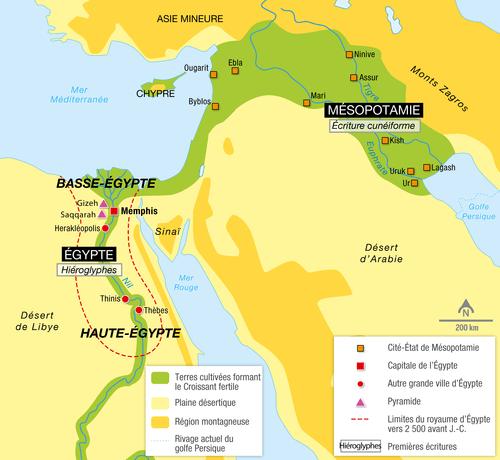 carte de l orient ancien L'Orient ancien au IIIᵉ millénaire avant J. C.