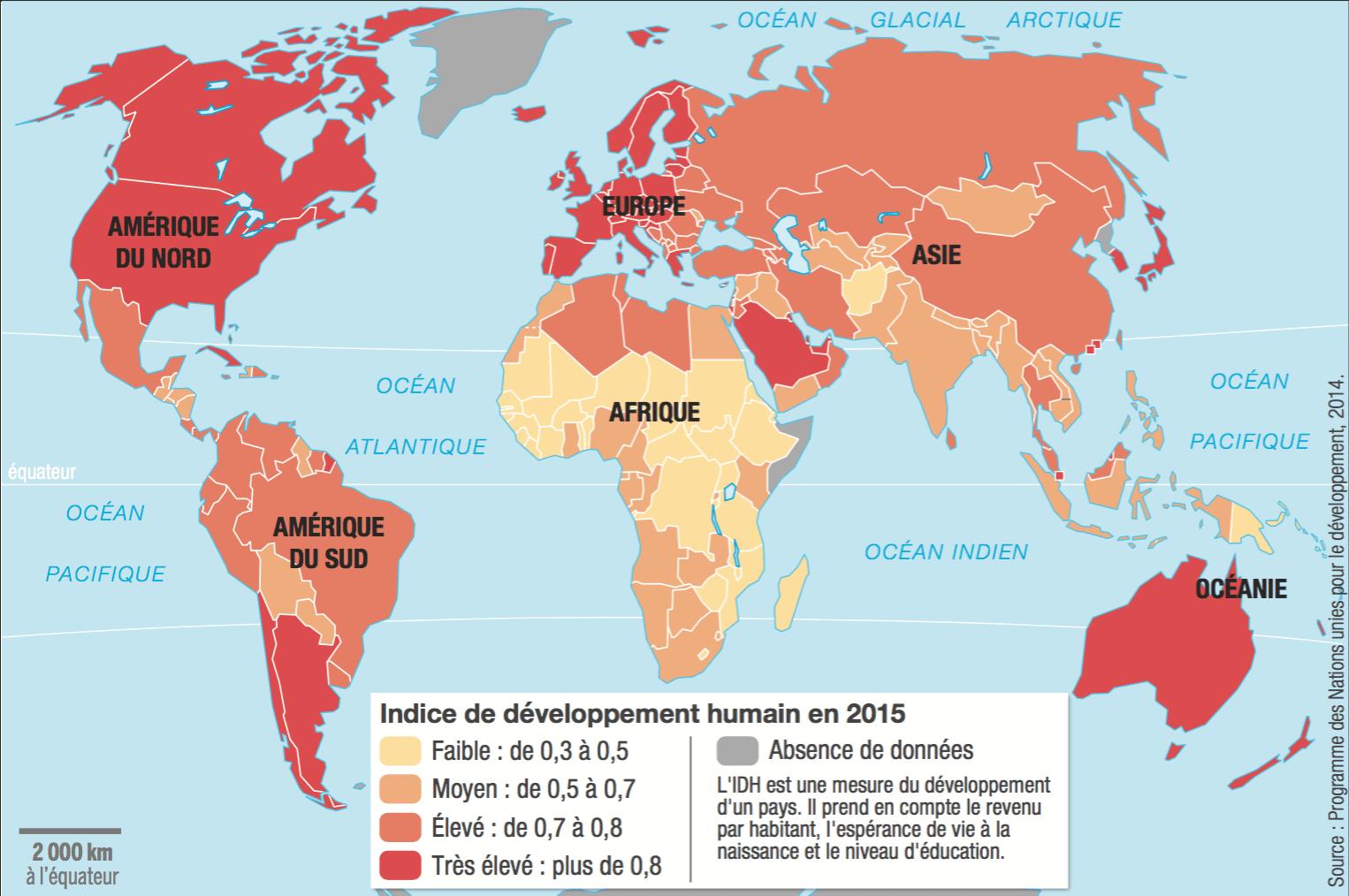 Les inégalités de développement