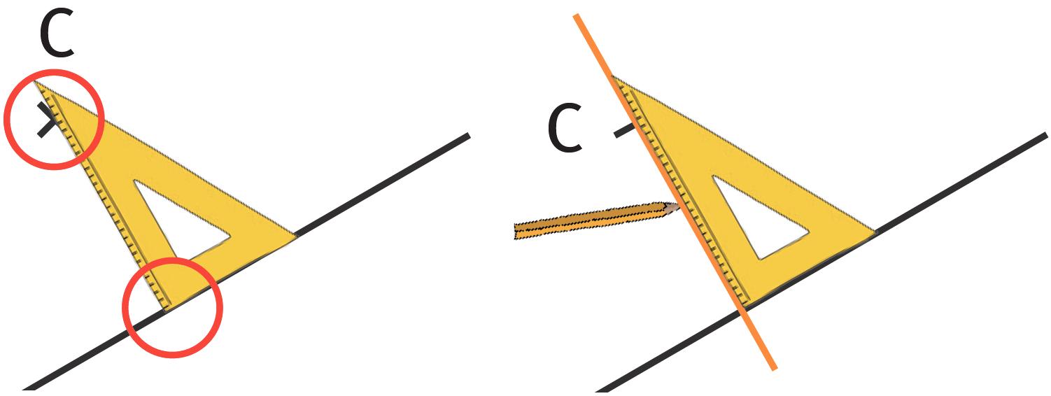 Refaire : Méthode pour tracer une perpendiculaire