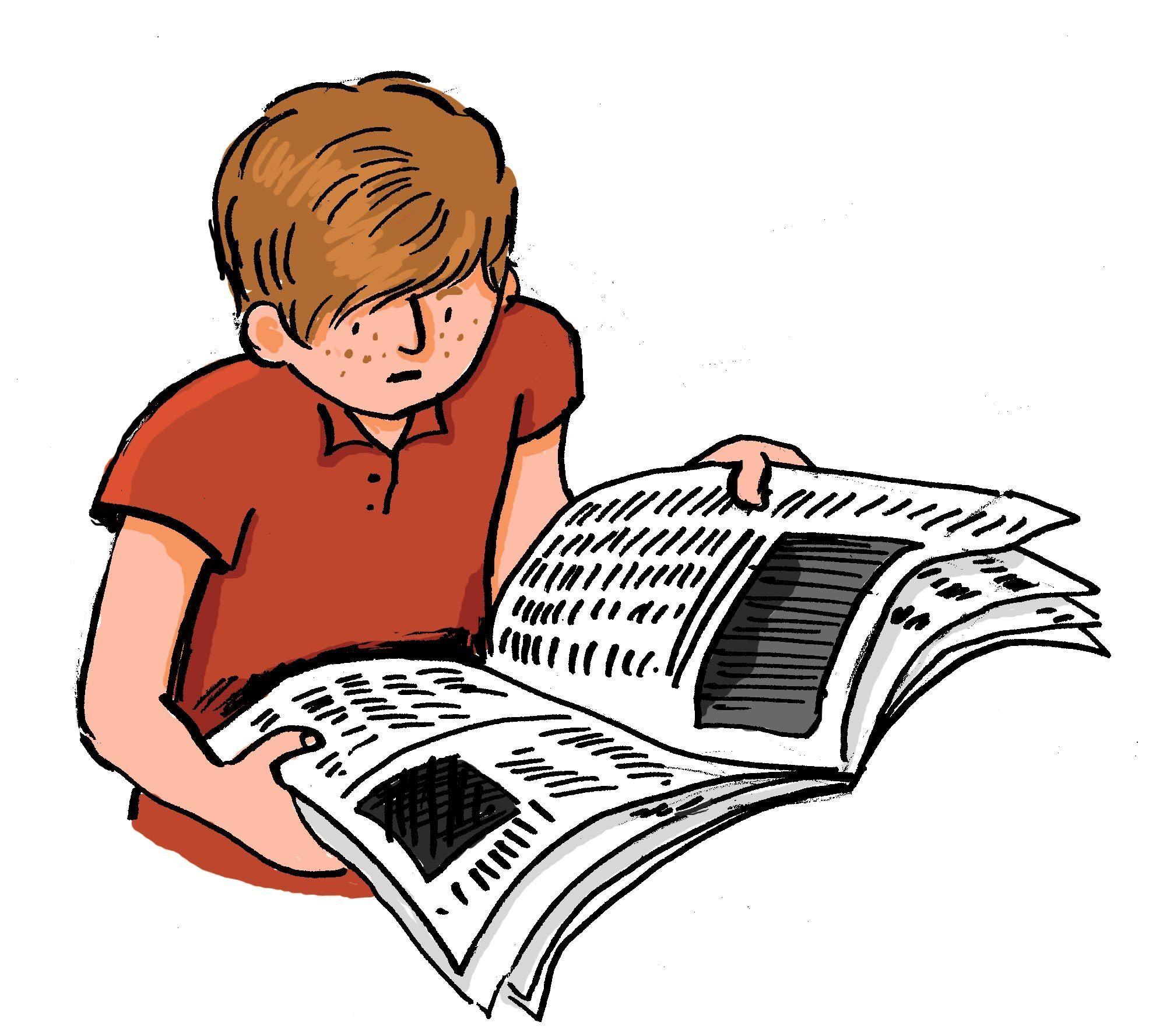 François achète un journal de 30 pages.