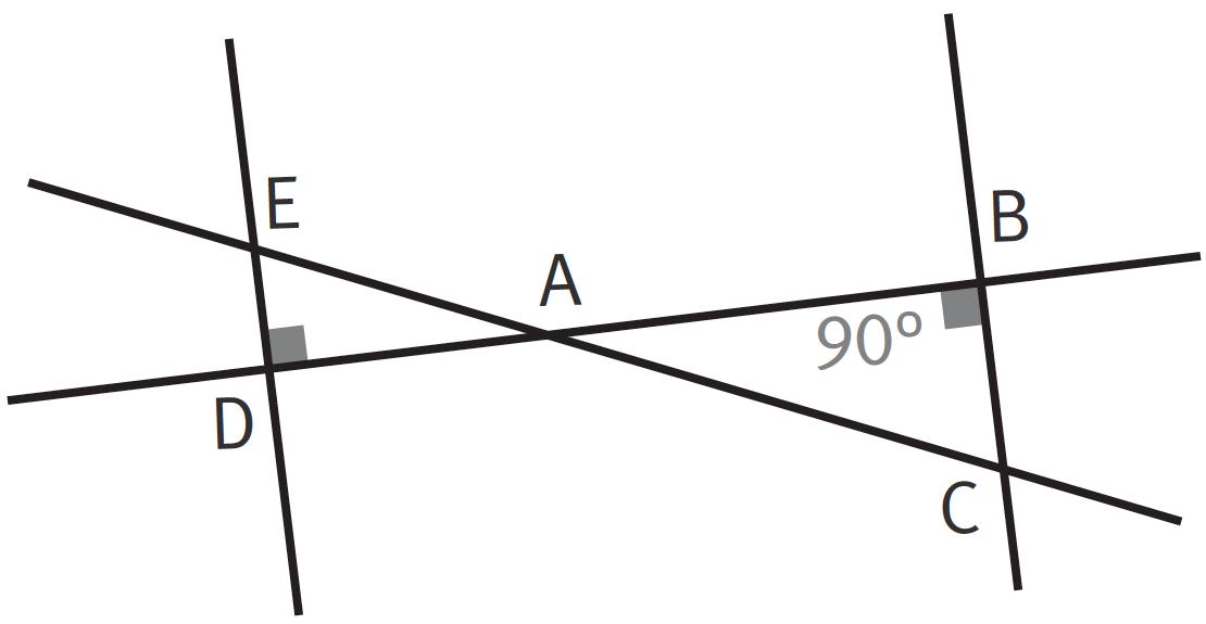 Triangles opposés par le sommet.